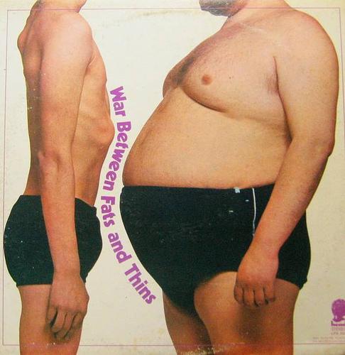 太った男性と痩せた男性