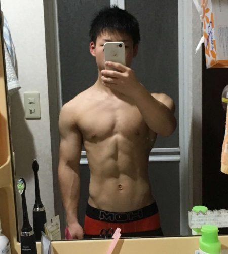 【体重55kg】2017年8月 絞れて腹筋割れた